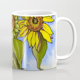 Sunflowers in a Black Vase by Amanda Martinson Coffee Mug