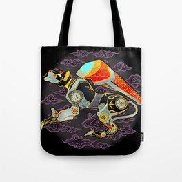 Black Lion Batik Tote Bag