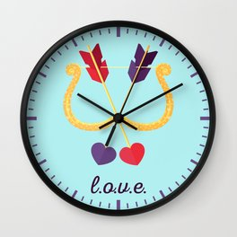 Take A Shot At L.O.V.E. Wall Clock