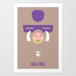 Bebop - Shell Drill Art Print