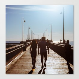 Couple on the Pier Canvas Print