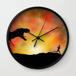 Jurassic Jogger Wall Clock