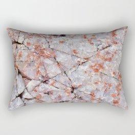 Quartz in granite Rectangular Pillow