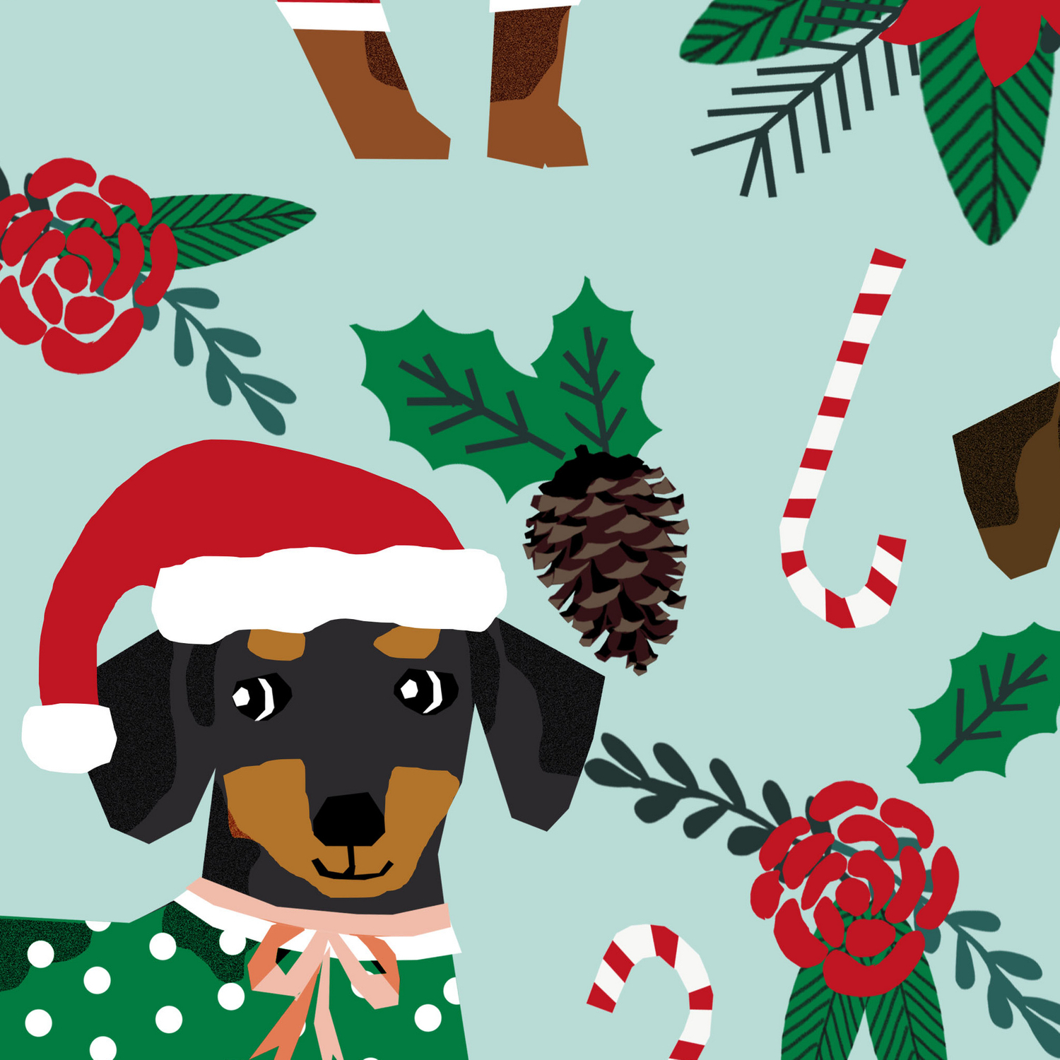 Dachshund Christmas Sweater Poinsettia Cute Holiday Gifts Doxie Dachsie Dog Breed Leggings By Petfriendly Society6