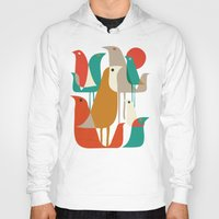 dude Hoodies featuring Flock of Birds by Picomodi
