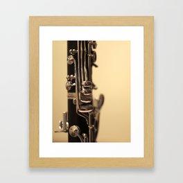 Clarinet Keys Framed Art Print