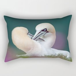 Northern Gannets (Morus bassanus) Rectangular Pillow