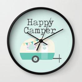 Happy Camper Minty Fresh Wall Clock