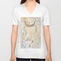 alice wonderland V-neck T-shirts featuring Wonderland  by Jgarciat