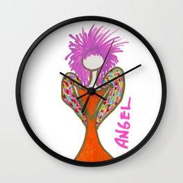 Orange Angel Wall Clock