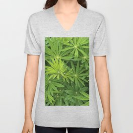Green Pattern Unisex V-Neck