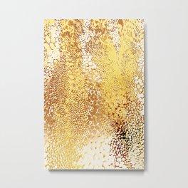 gush of dots in yellow Metal Print