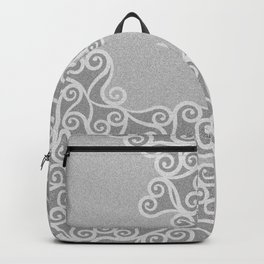 Comtemporary Abstract Leaves Grey Pattern Backpack