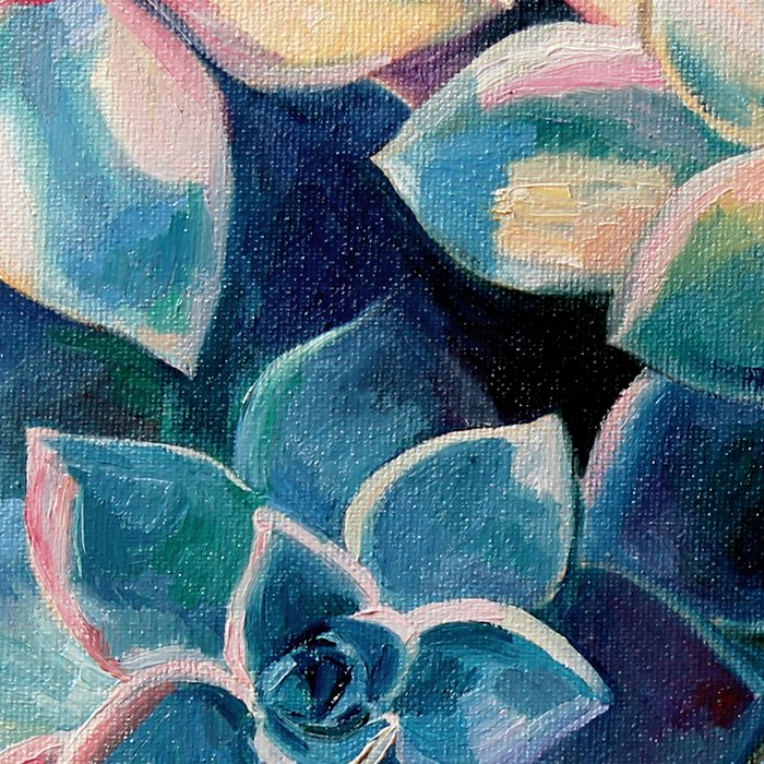 Pastel Succulents - an oil painting on canvas Leggings