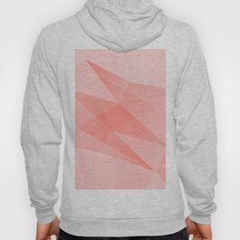 Pantone Living Coral Color of the Year 2019 on Abstract Geometric Shape Pattern Hoody