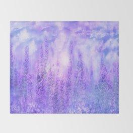 Lavender fields Throw Blanket