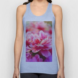 Fresh pink white red tulips Unisex Tank Top