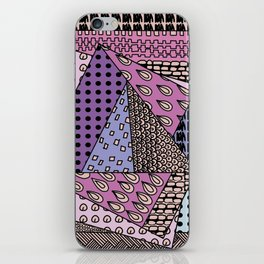 simple purple doodles iPhone Skin