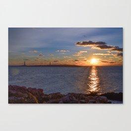 Twin Light Sunrise Canvas Print
