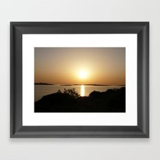 At Day's End Greek Sunset  Framed Art Print