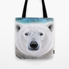 white bear Tote Bag