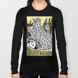 Modern Tarot Design - 3 The Empress Long Sleeve T-shirt