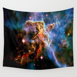GAlAxY : Mystic Mountain Nebula Wall Tapestry