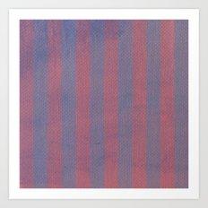 Worn Stripes Art Print