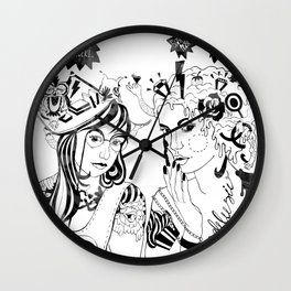 when a girl says... Wall Clock