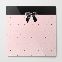 Black Tie Affair: Pink Metal Print