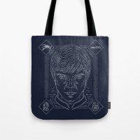 luke hemmings Tote Bags featuring Luke by Jon Deviny