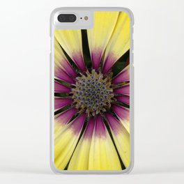 Yellow Calendula Clear iPhone Case