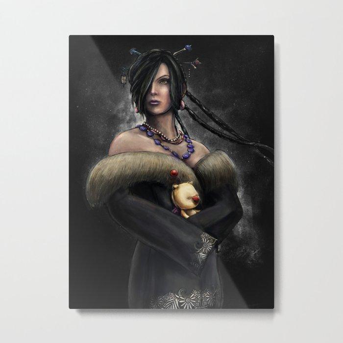 Final Fantasy X Lulu Painting Portrait Metal Print