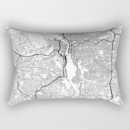 Minimal City Maps - Map Of Portland, Oregon, United States Rectangular Pillow