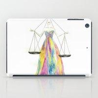 zodiac iPad Cases featuring Zodiac - Libra by Simona Borstnar