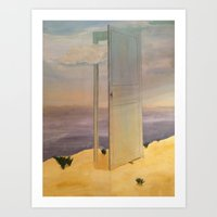 magritte Art Prints featuring Magritte Illustrated  by melinegangloff