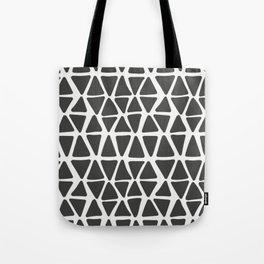Modern Black And White Pattern Tote Bag