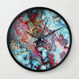 Colorful abstract marble II Wall Clock