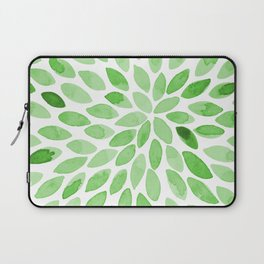 Watercolor brush strokes -  summer green Laptop Sleeve