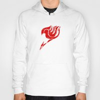 fairy tail Hoodies featuring Fairy Tail Segmented Logo circle by JoshBeck