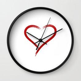 Simple Heart Wall Clock