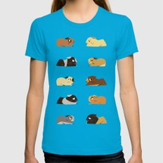 Guinea pigs MEDIUM Teal Womens Fitted Tee
