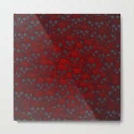 Subtle skull wall red Metal Print