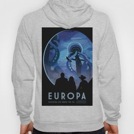 NASA Retro Space Travel Poster #4 - Europa Hoody