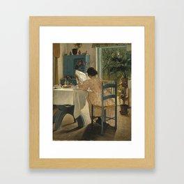 Laurits Andersen Ring 1854 - 1933 DANISH HARVEST TIME, LADBY Framed Art Print