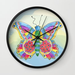 Butterfly Pizzazz Wall Clock