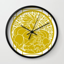 Stained Glass - Dragonball - Broly Wall Clock