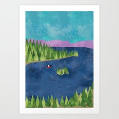 Around the lake  Art Print