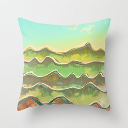 Magic Flight over the Sea of Clouds Throw Pillow