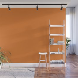 Russet Orange | Pantone Fashion Color | Fall : Winter 2018 | New York and London | Solid Color Wall Mural